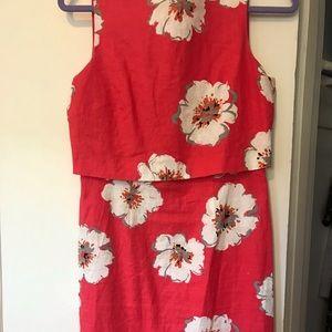 Linen floral dress